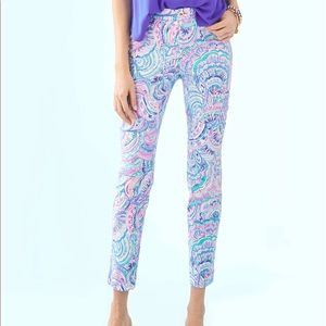 Lilly Pulitzer Kelly Pant 00 Multi Happy As A Clam